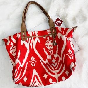 Stella & Dot • Red carryall Tote
